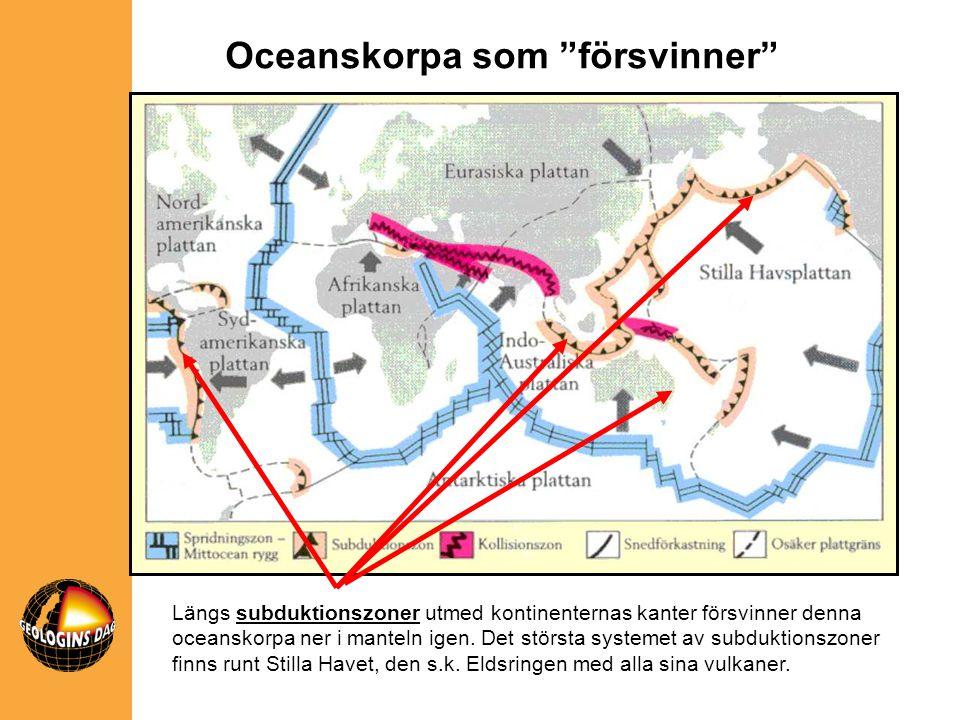 Oceanskorpa som försvinner