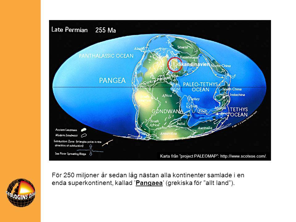 Skandinavien Karta från project PALEOMAP : http://www.scotese.com/.
