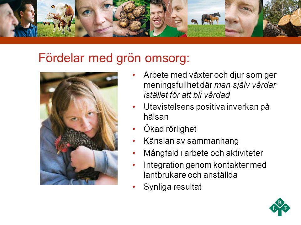 Fördelar med grön omsorg:
