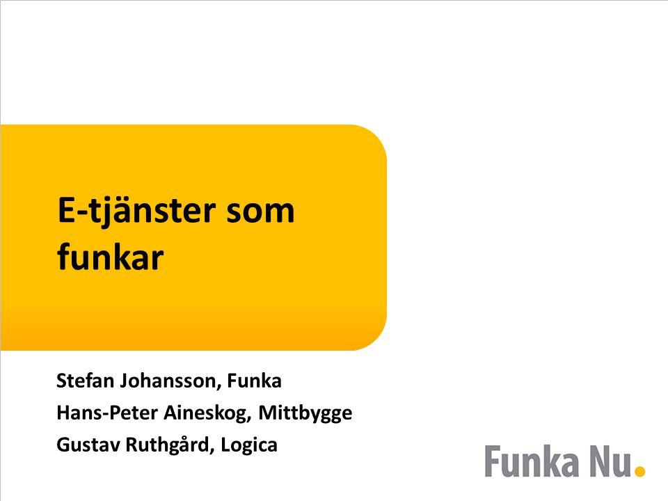 E-tjänster som funkar Stefan Johansson, Funka