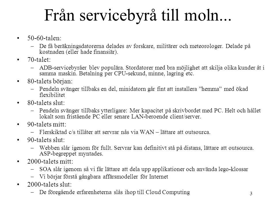 Från servicebyrå till moln...