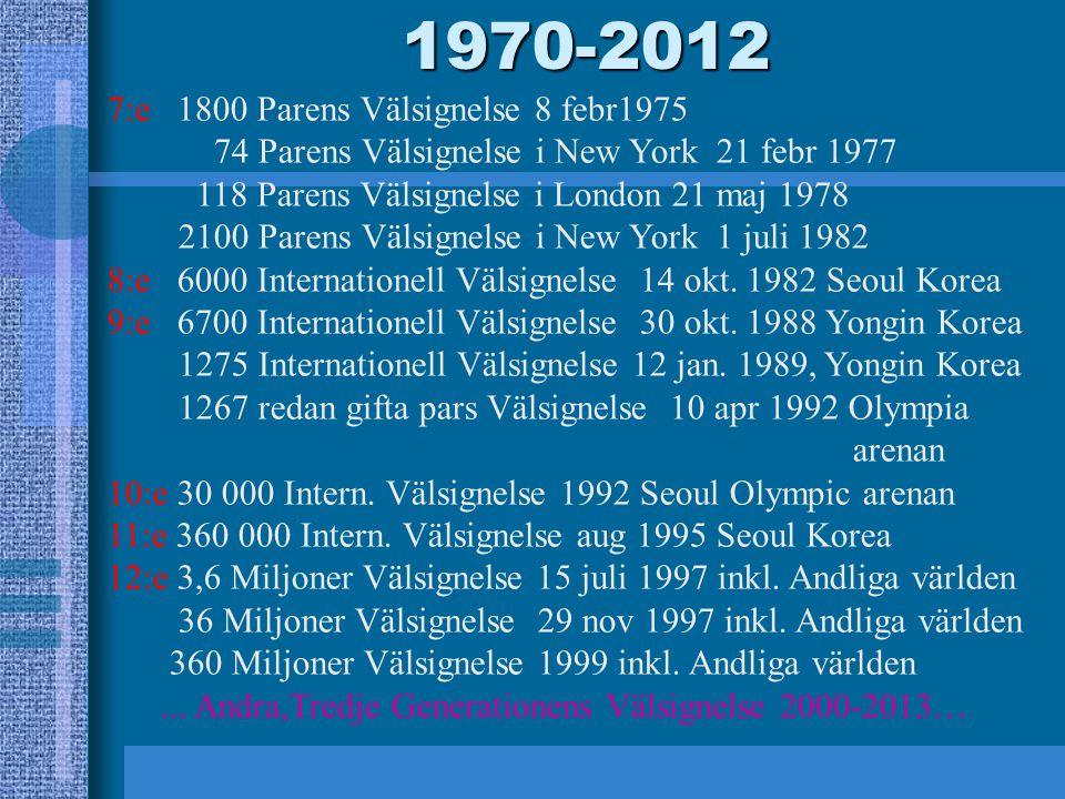 1970-2012 7:e 1800 Parens Välsignelse 8 febr1975