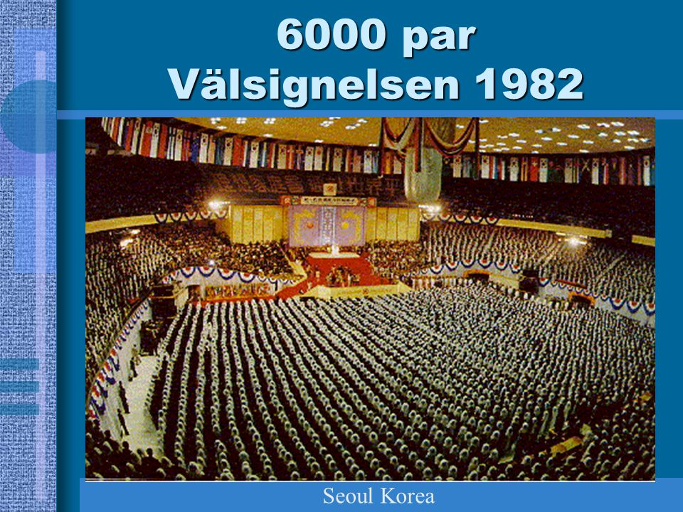 6000 par Välsignelsen 1982 Seoul Korea