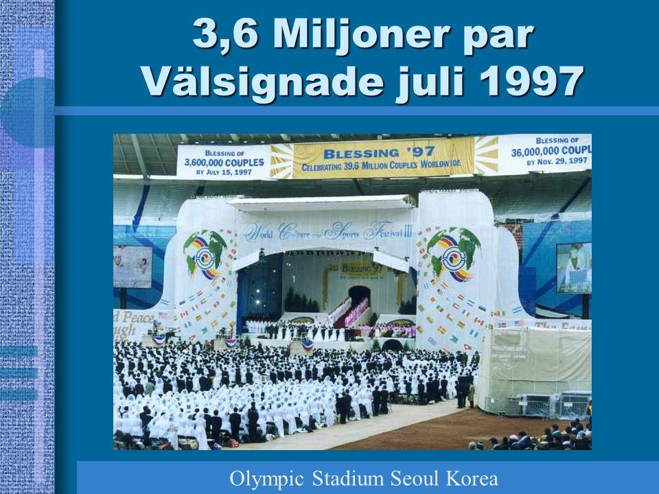 3,6 Miljoner par Välsignade juli 1997