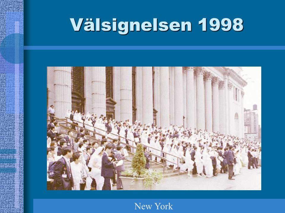 Välsignelsen 1998 New York