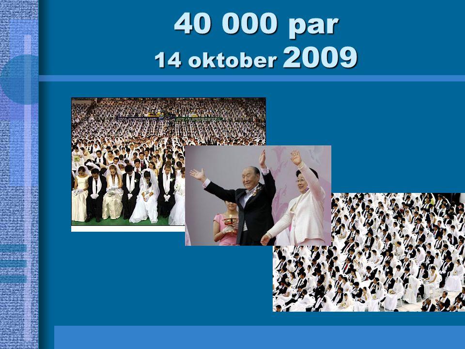 40 000 par 14 oktober 2009