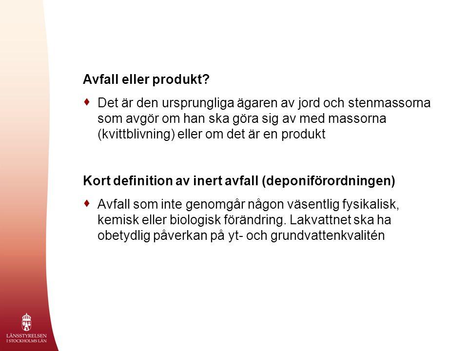 Avfall eller produkt