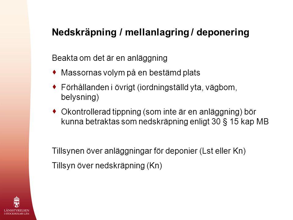 Nedskräpning / mellanlagring / deponering