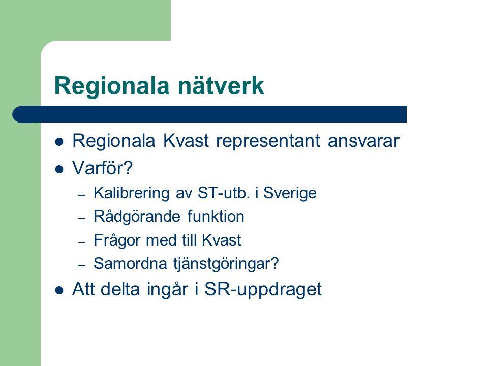 Regionala nätverk Regionala Kvast representant ansvarar Varför