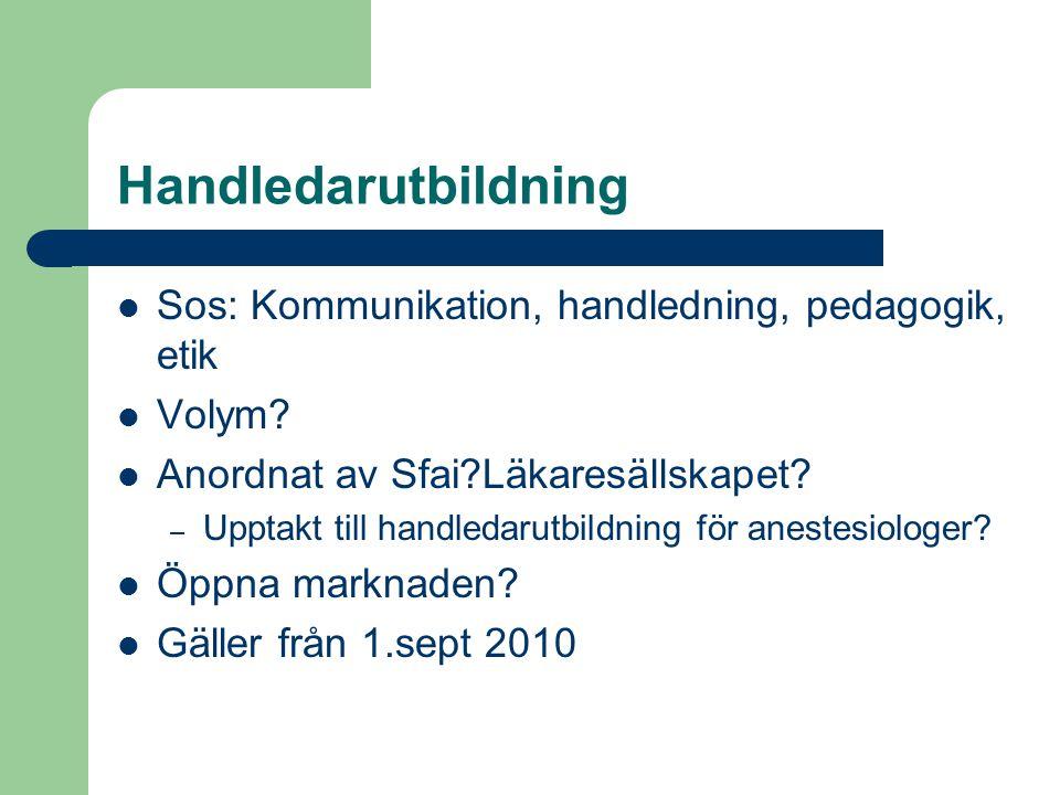 Handledarutbildning Sos: Kommunikation, handledning, pedagogik, etik