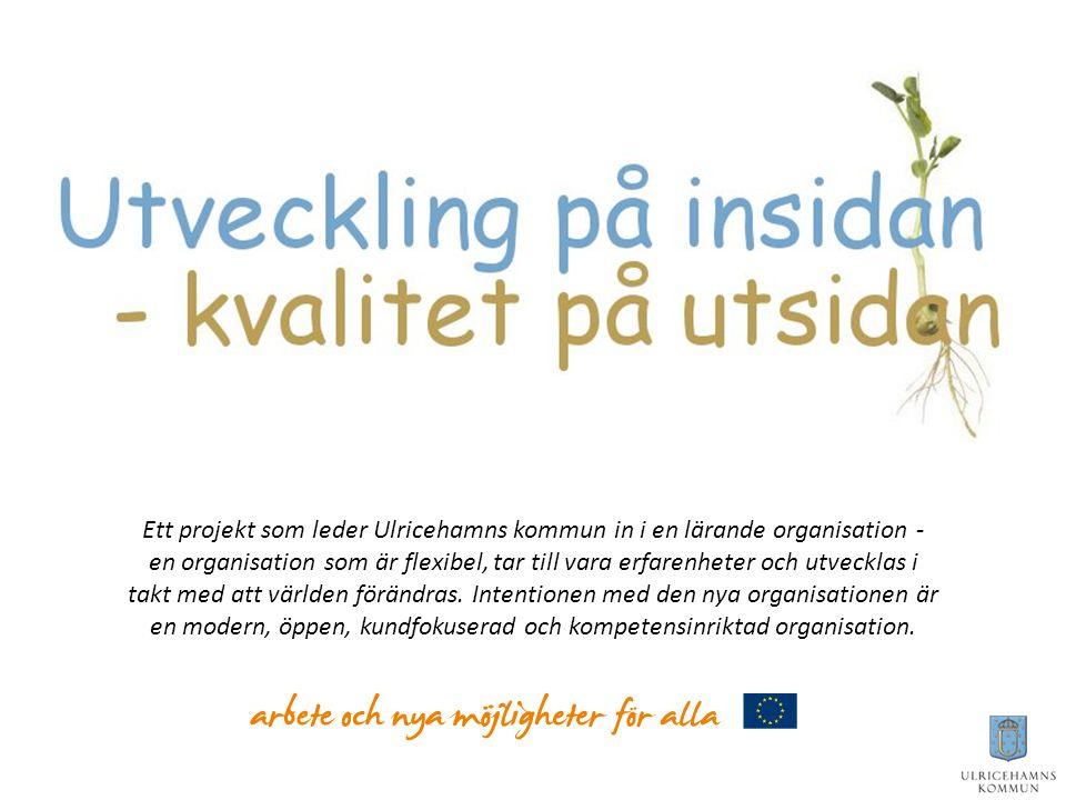 Ett projekt som leder Ulricehamns kommun in i en lärande organisation - en organisation som är flexibel, tar till vara erfarenheter och utvecklas i takt med att världen förändras.