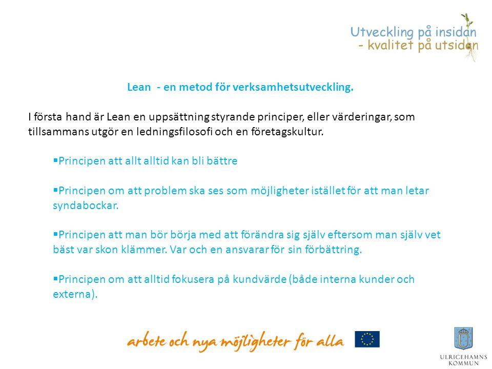 Lean - en metod för verksamhetsutveckling.