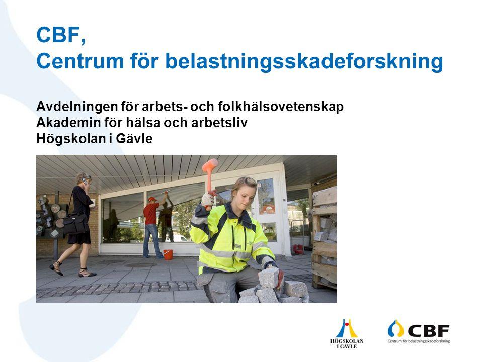 CBF, Centrum för belastningsskadeforskning