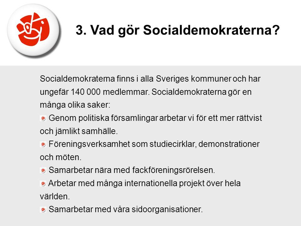 3. Vad gör Socialdemokraterna