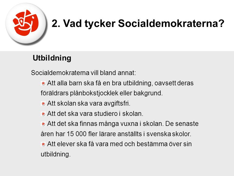 2. Vad tycker Socialdemokraterna