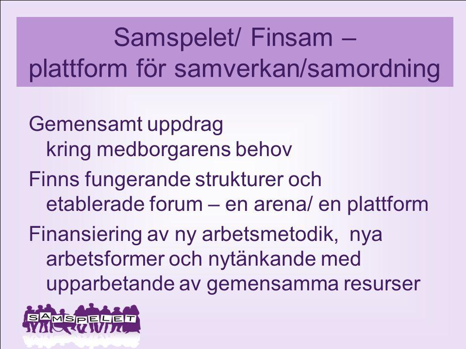 Samspelet/ Finsam – plattform för samverkan/samordning