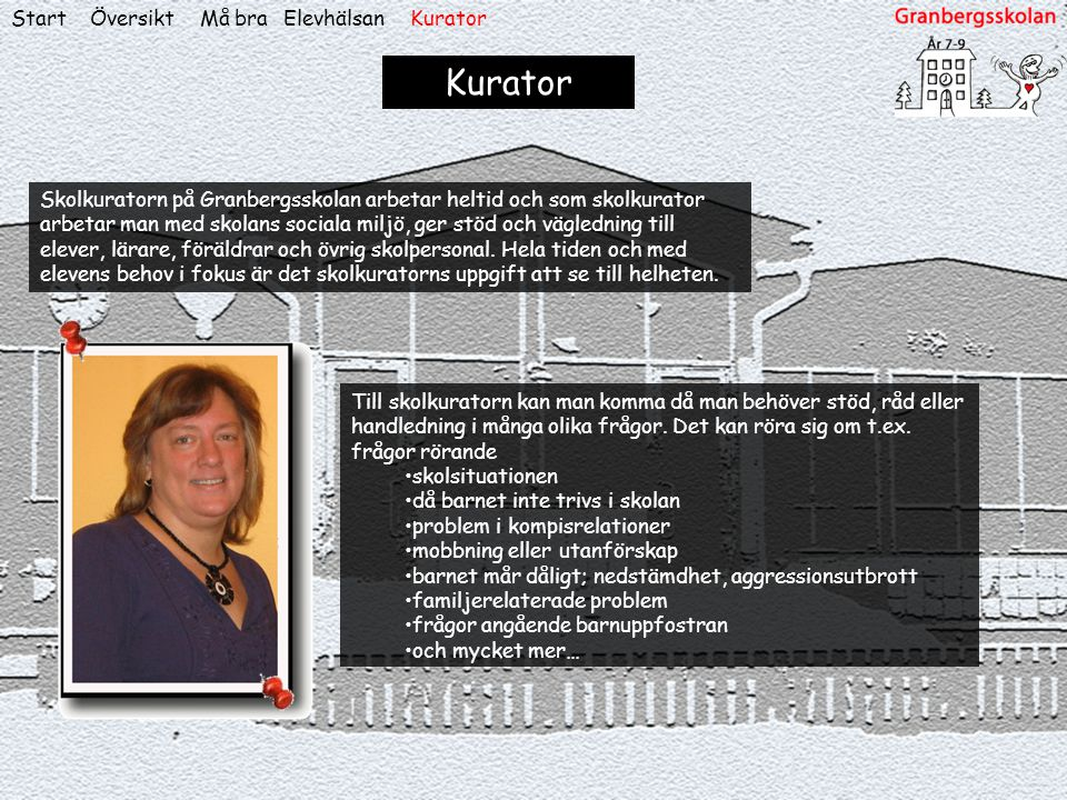 Kurator Start Översikt Må bra Elevhälsan Kurator