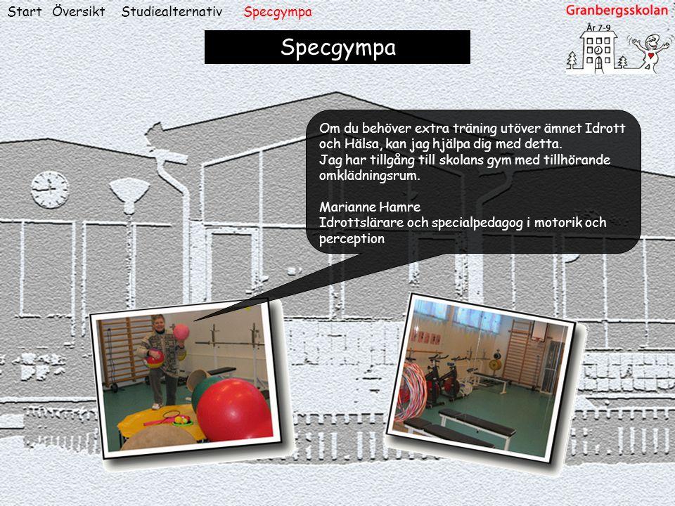 Specgympa Start Översikt Studiealternativ Specgympa