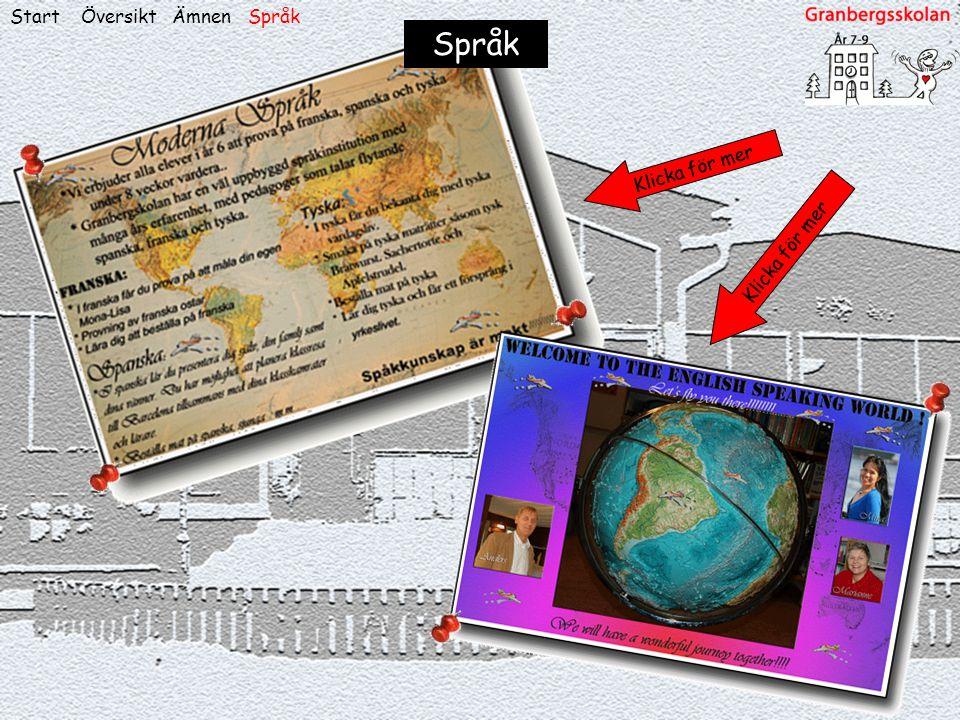 Start Översikt Ämnen Språk Språk Klicka för mer Klicka för mer