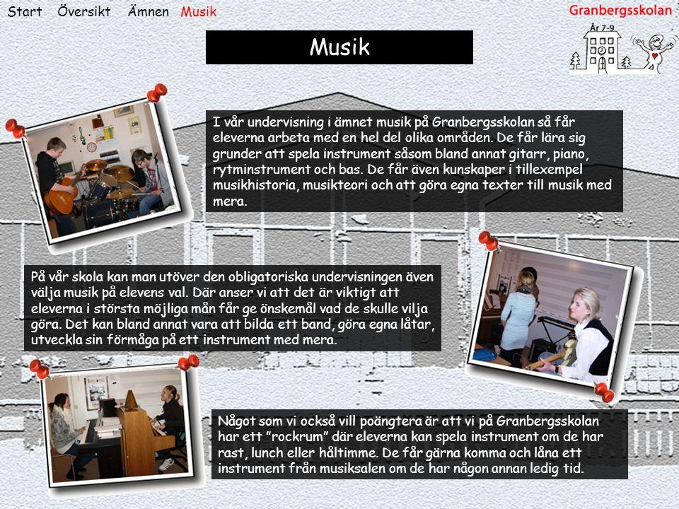 Musik Start Översikt Ämnen Musik
