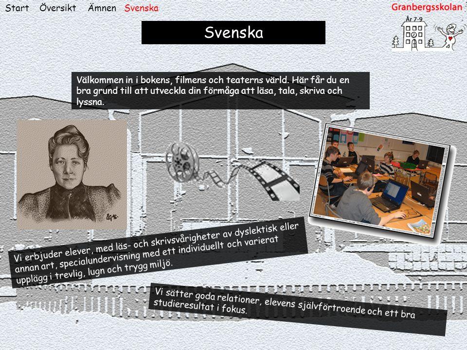 Svenska Start Översikt Ämnen Svenska