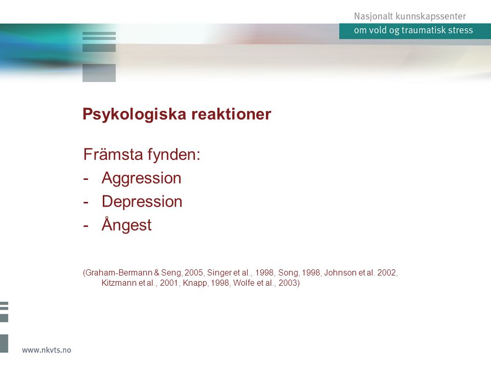 Psykologiska reaktioner