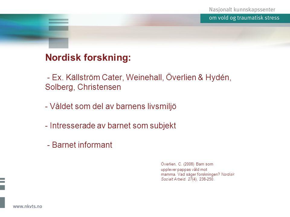 Nordisk forskning: - Ex