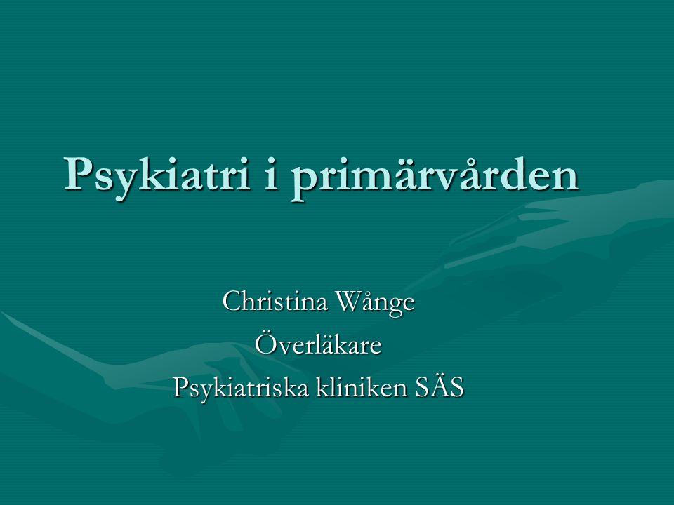 Psykiatri i primärvården