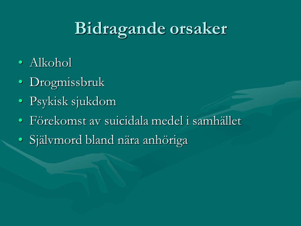 Bidragande orsaker Alkohol Drogmissbruk Psykisk sjukdom