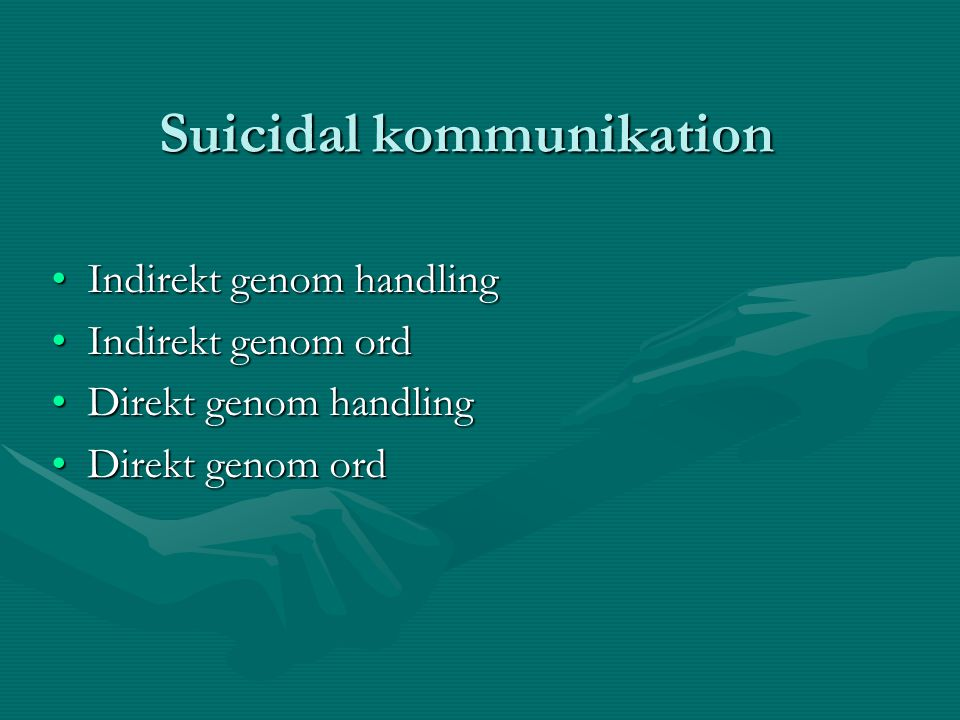 Suicidal kommunikation