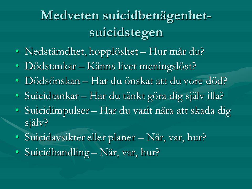 Medveten suicidbenägenhet-suicidstegen