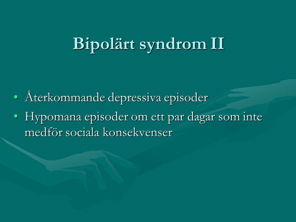 Bipolärt syndrom II Återkommande depressiva episoder