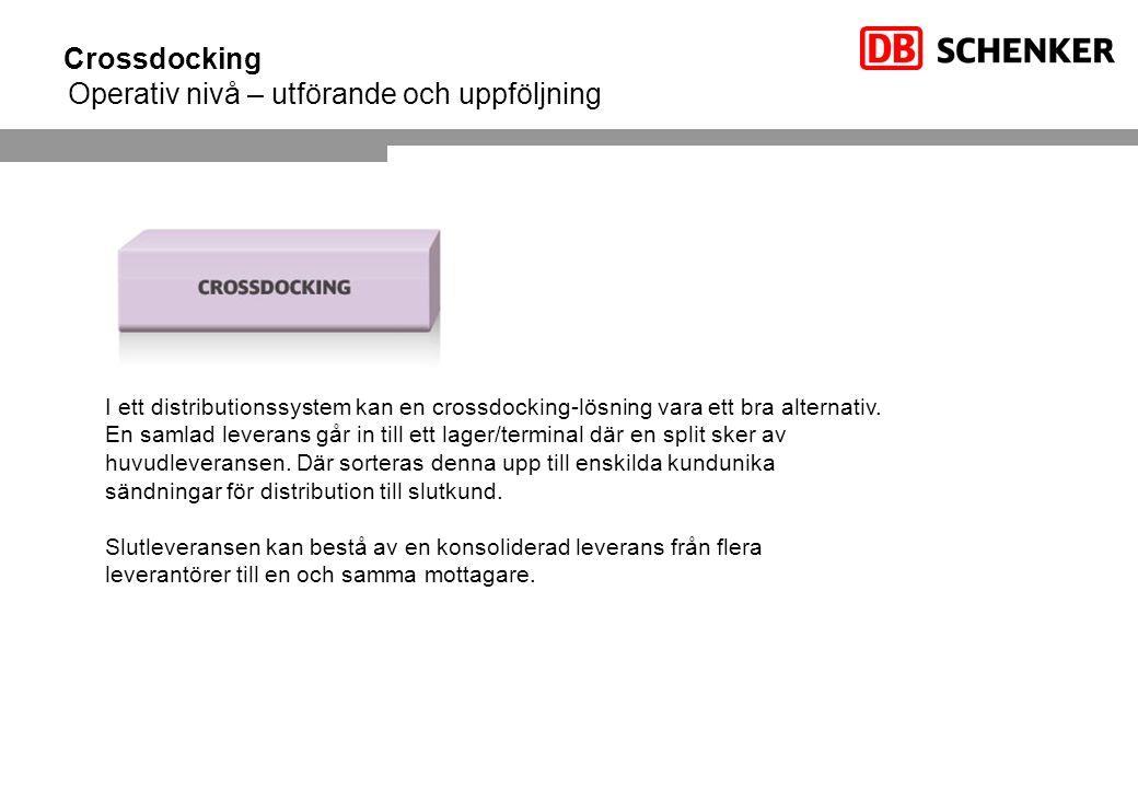 Crossdocking Operativ nivå – utförande och uppföljning
