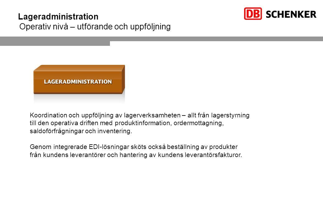 Lageradministration Operativ nivå – utförande och uppföljning
