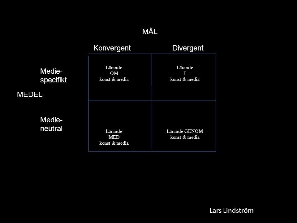 MÅL Konvergent Divergent Medie- specifikt MEDEL Medie- neutral