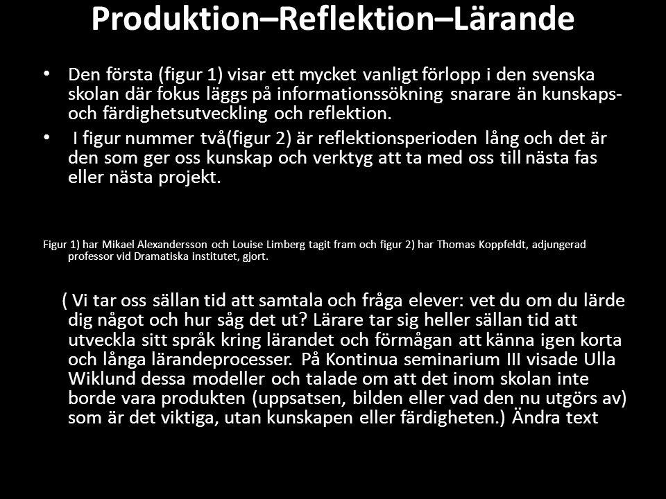 Produktion–Reflektion–Lärande