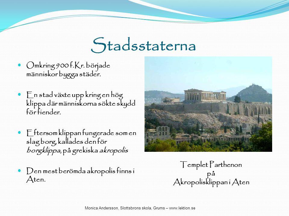 Akropolisklippan i Aten