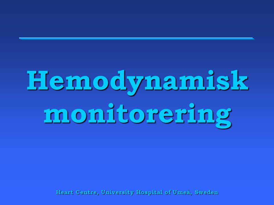 Hemodynamisk monitorering