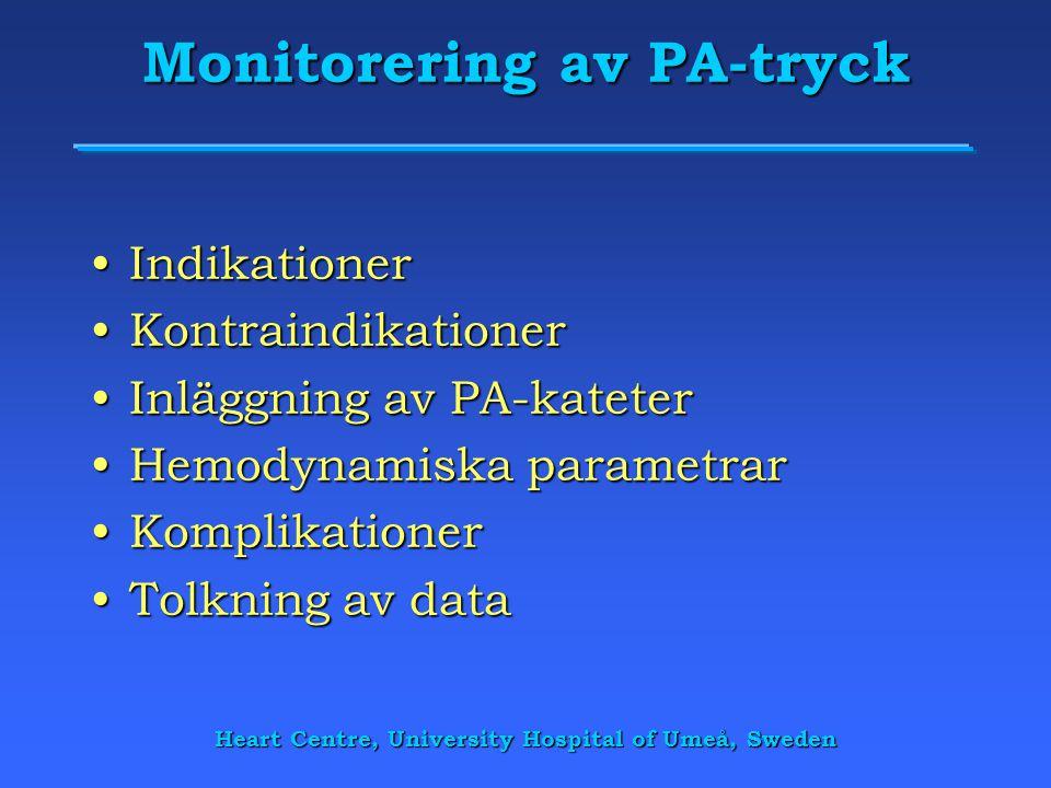 Monitorering av PA-tryck