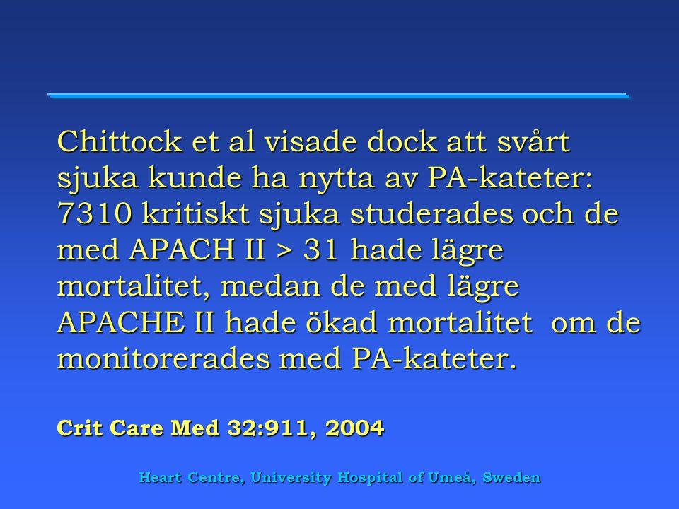 Heart Centre, University Hospital of Umeå, Sweden