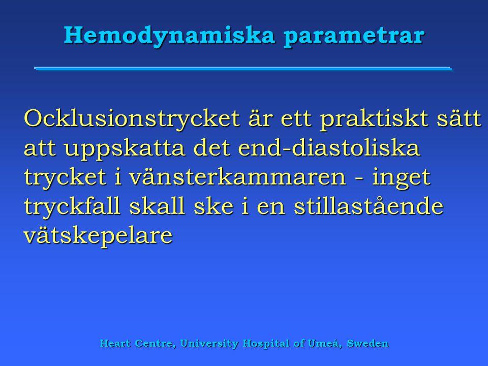 Hemodynamiska parametrar