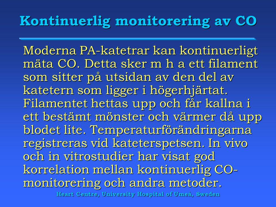 Kontinuerlig monitorering av CO