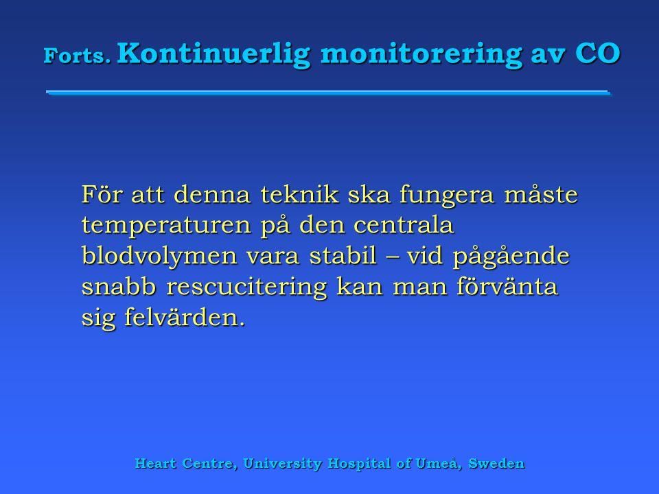 Forts. Kontinuerlig monitorering av CO