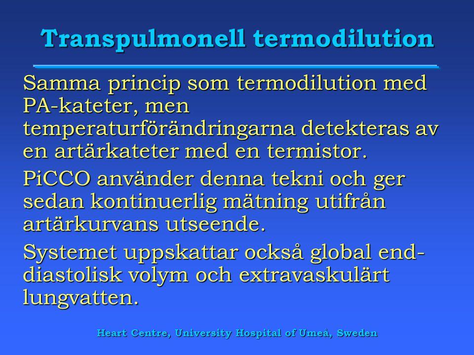 Transpulmonell termodilution