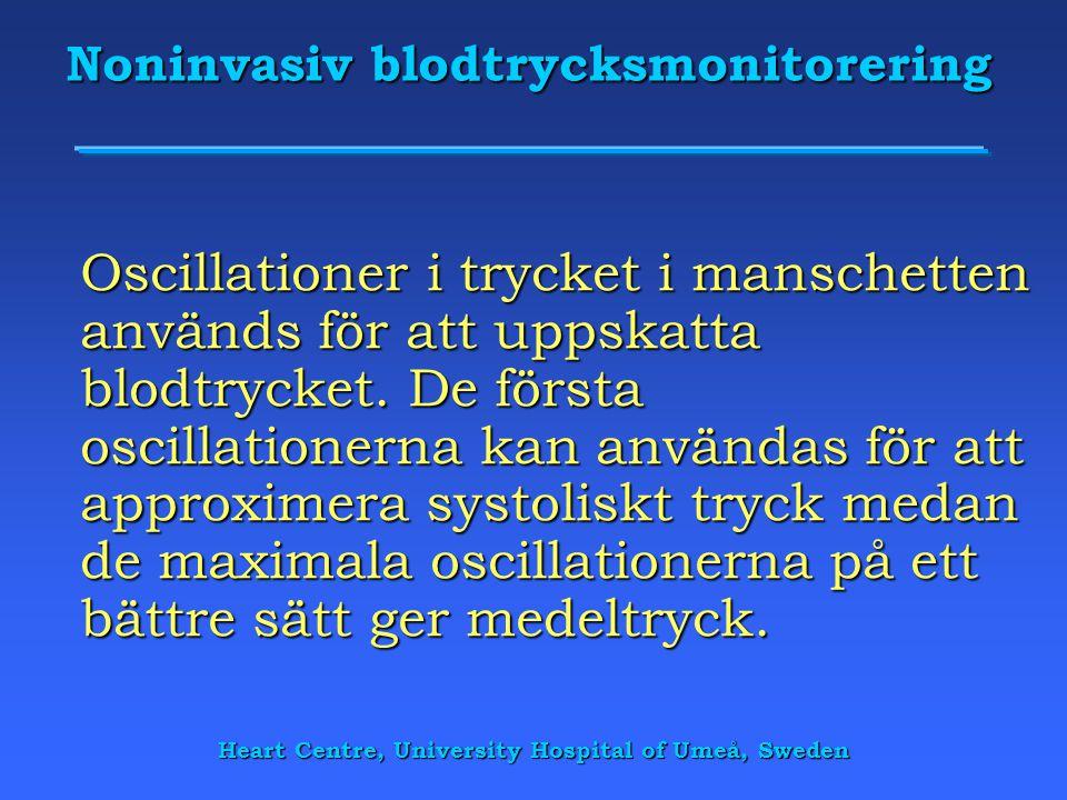Noninvasiv blodtrycksmonitorering