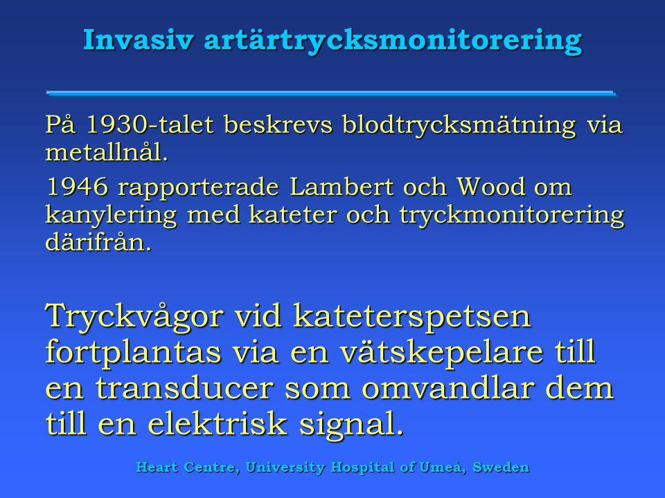 Invasiv artärtrycksmonitorering