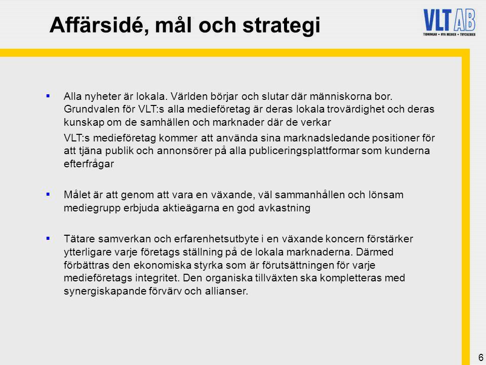 Affärsidé, mål och strategi