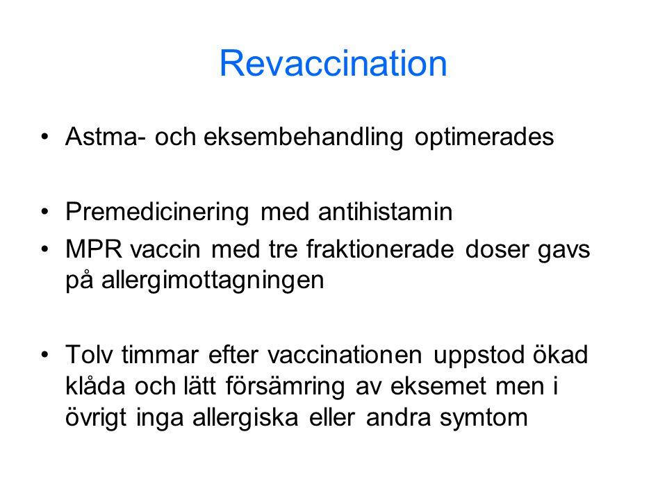 Revaccination Astma- och eksembehandling optimerades