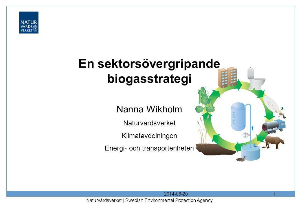 En sektorsövergripande biogasstrategi