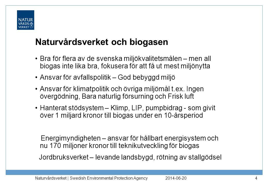 Naturvårdsverket och biogasen